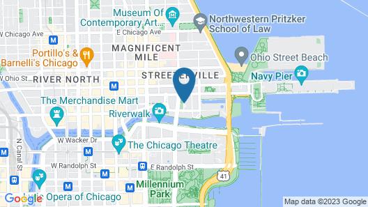 Loews Chicago Hotel Map
