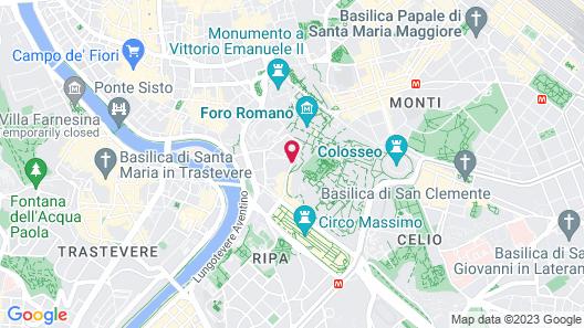 Kolbe Hotel Rome Map