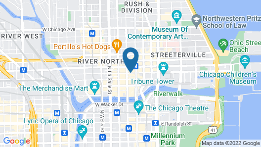 Hampton Inn & Suites Chicago Downtown Map