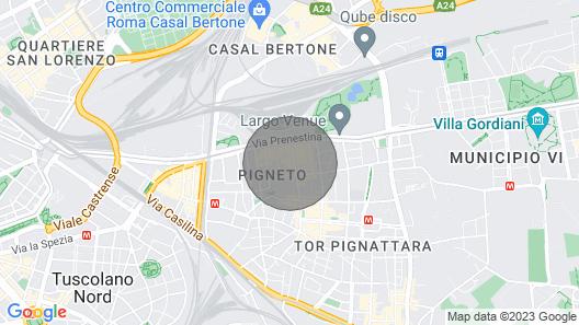 Moderni huoneisto lähellä keskustaa, hyvät yhteydet Map