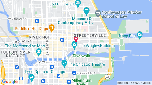 InterContinental Chicago Magnificent Mile, an IHG Hotel Map