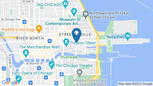 Embassy Suites Chicago Downtown Magnificent Mile Map