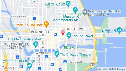 The Gwen, a Luxury Collection Hotel, Michigan Avenue Chicago Map