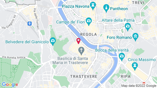 BdB Luxury Rooms Trastevere Torre Map