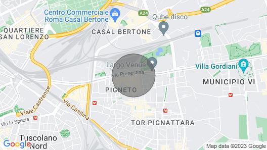 Casa Bianca al Pigneto Map