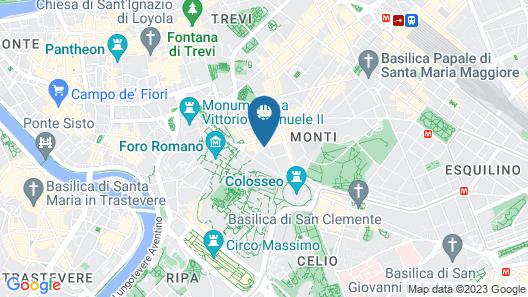 Hotel Fori Imperiali Cavalieri Map