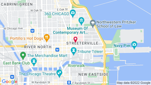 Courtyard by Marriott Chicago Magnificent Mile Map