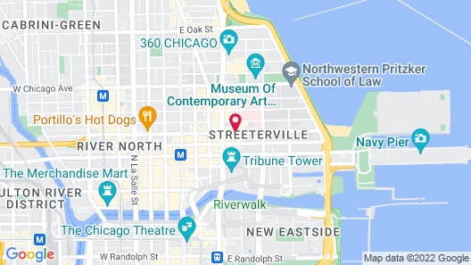 The St. Clair Hotel – Magnificent Mile Map