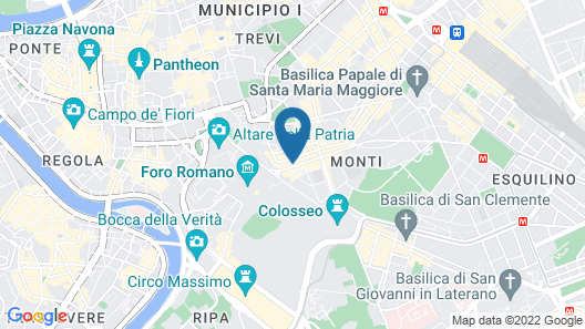 B&B 2 Passi Al Colosseo Map