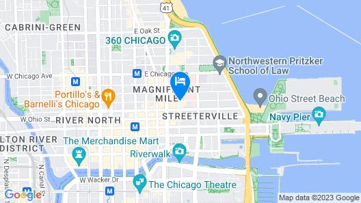 Hyatt Centric Chicago Magnificent Mile Map