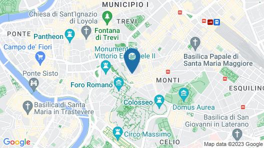 The Inn at the Roman Forum Map