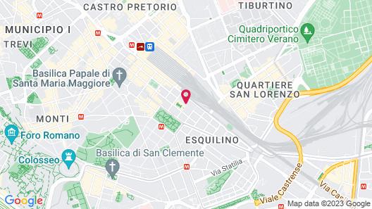 Radisson Blu es. Hotel, Roma Map