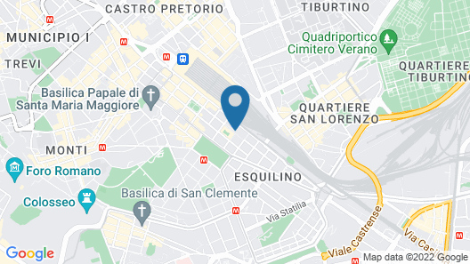 Radisson Blu es. Hotel, Roma Map