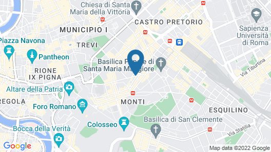 95 Rooms in Rome Map