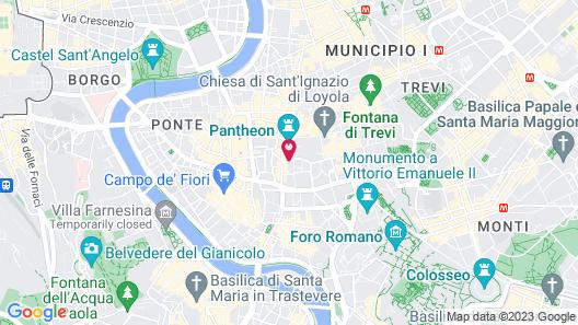 Albergo Santa Chiara Hotel Rome Map