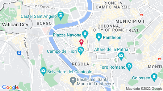 Navona Rooms with Jacuzzi Map