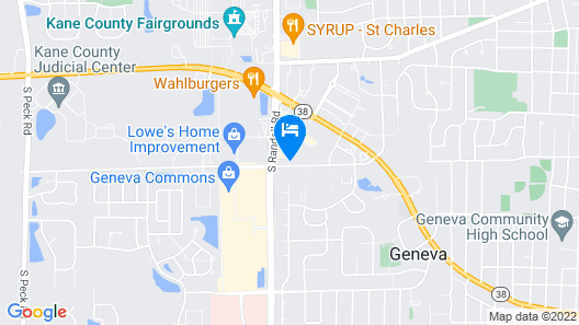Fairfield Inn and Suites By Marriott St Charles Map