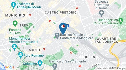 Hotel Scott House Rome Map