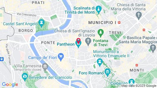 Hotel Sole al Pantheon Map
