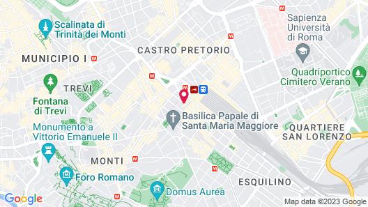 Golden Tulip Rome Piram Map
