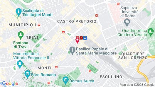 UNAHOTELS Decò Roma Map