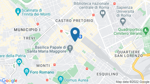 UNAHOTELS Decò Roma Map