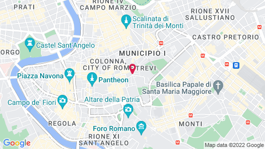 Harry's Bar Trevi Hotel & Restaurant Map