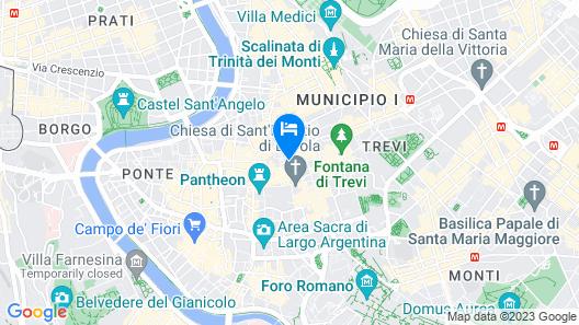 Colonna Suite del Corso Map
