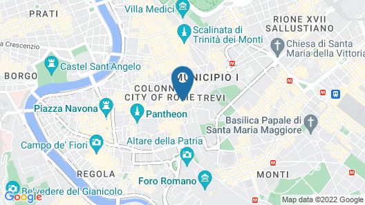 Boutique Hotel Trevi Map