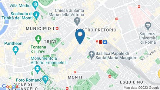 iQ Hotel Roma Map