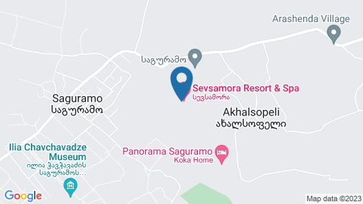 Sevsamora Resoprt and Spa Map