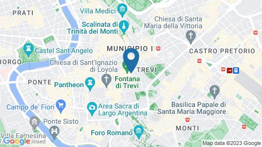 Relais Fontana di Trevi Map