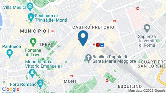 Flower Garden Hotel Rome Map