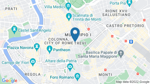 Trevi Palace Luxury Inn Map