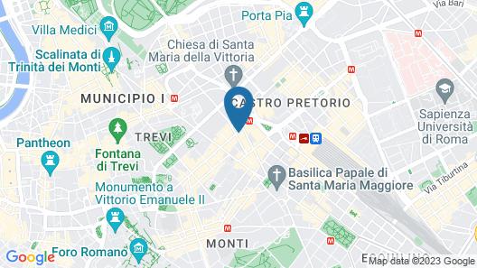 Hotel Quirinale Map