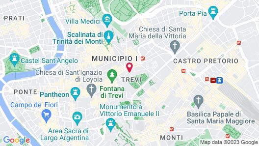 Hotel Barberini Map