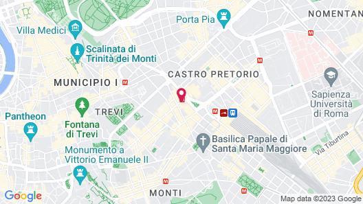Anantara Palazzo Naiadi Rome Hotel Map