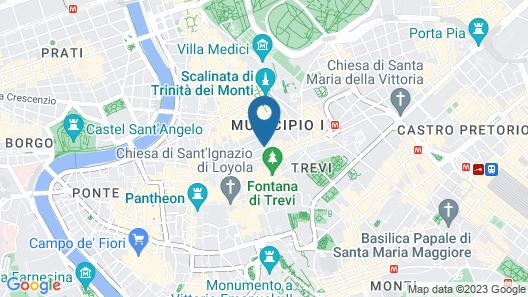 Dei Borgognoni Hotel Map