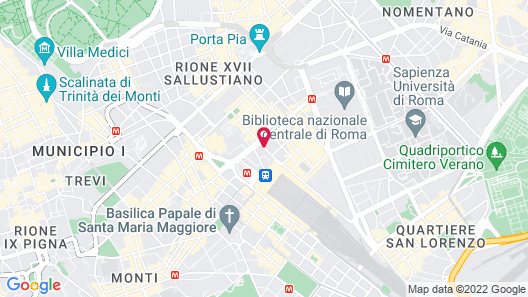 Best Western Premier Hotel Royal Santina Map