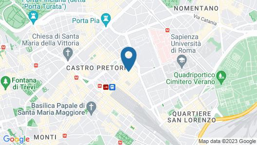 Leonardo Boutique Hotel Rome Termini Map
