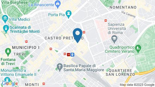 Hotel Piemonte Map