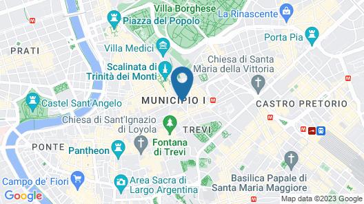 Smart Hotel Pincio Map