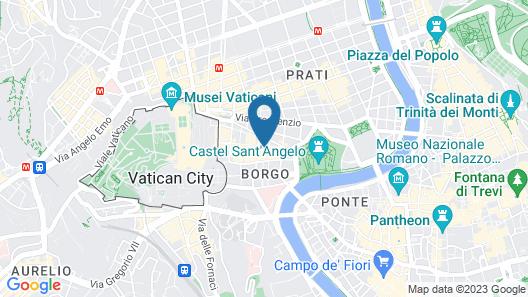 Trianon Borgo Pio Map