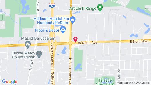 Comfort Suites Lombard - Addison Map
