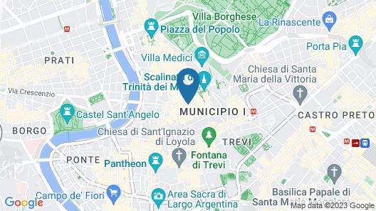 Hotel d'Inghilterra Roma - Starhotels Collezione Map