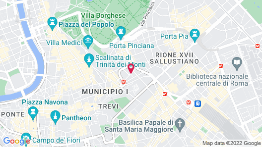 Aleph Rome Hotel Curio Collection by Hilton Map
