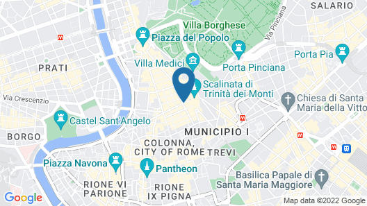 The Inn at the Spanish Steps Map