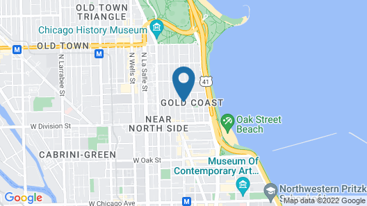 Ambassador Chicago, part of JdV by Hyatt Map