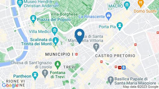 InterContinental Rome Ambasciatori Palace, an IHG Hotel Map