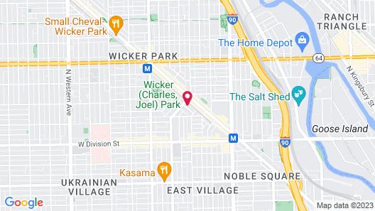 Wicker Park Inn Map